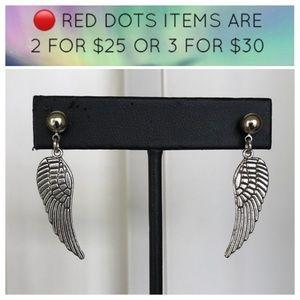 🔴SALE ! angel wings steel post dangly earrings